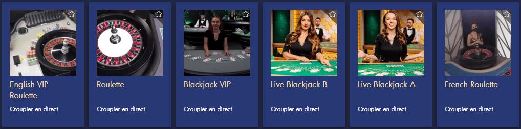 Casino en ligne Bondibet Croupiers en direct